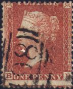 1855 1d Red SG24 Plate 5 'BE'